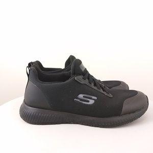 Skechers Black WORK SQUAD SR Size 8.5 Wide
